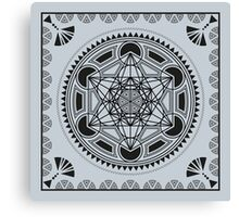SACRED GEOMETRY - METATRONS CUBE - FLOWER OF LIFE - SPIRITUALITY - YOGA - MEDITATION Canvas Print