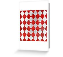 Red and White Diamonds  Greeting Card