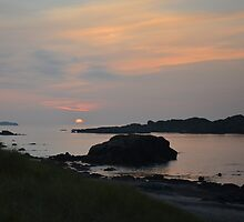 Sunset off Iona by Pete Johnston
