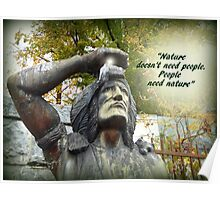PEOPLE NEED NATURE Poster