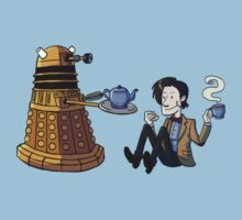 Doctor and Dalek Tea Party Baby Tee