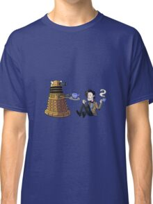 Doctor and Dalek Tea Party Classic T-Shirt