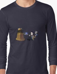 Doctor and Dalek Tea Party Long Sleeve T-Shirt