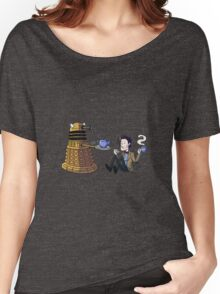 Doctor and Dalek Tea Party Women's Relaxed Fit T-Shirt