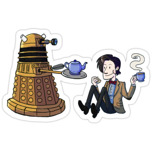 Doctor and Dalek Tea Party by taconaco