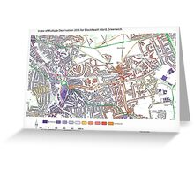 Multiple Deprivation Blackheath ward, Greenwich Greeting Card