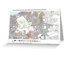 Multiple Deprivation Blackheath Westcombe ward, Greenwich Greeting Card