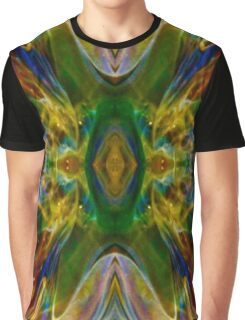 Green Flame Nebula Psychedelic Abstract Graphic T-Shirt