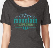 Mountain Explorer Distressed color Women's Relaxed Fit T-Shirt