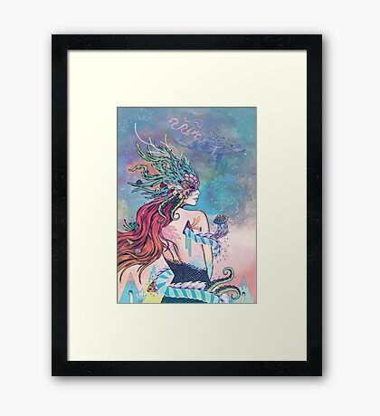 The Last Mermaid Framed Print