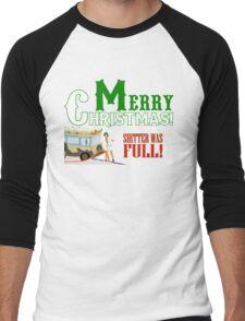 Merry Christmas Shitter Was Full Men's Baseball ¾ T-Shirt