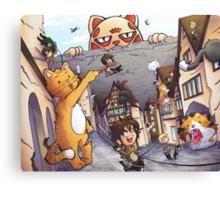 Attack on Kitten! Canvas Print