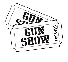 Two tickets to the gun show Photographic Print
