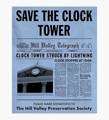 Save the Clock Tower Photographic Print
