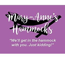 Mary-Anne's Hammocks – The Simpsons, Cypress Creek Photographic Print