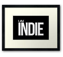 I AM INDIE - Artwork Framed Print