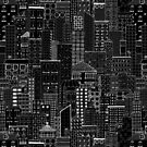 City Doodle Inverted by Beth Thompson
