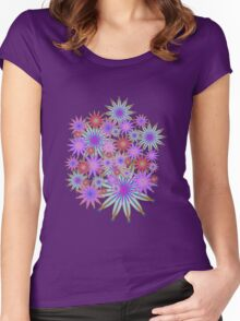 Colourful  Floral Women's Fitted Scoop T-Shirt