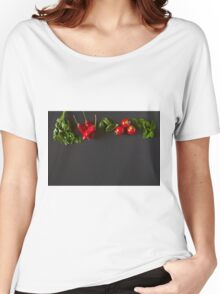 Red and green raw vegetables Women's Relaxed Fit T-Shirt