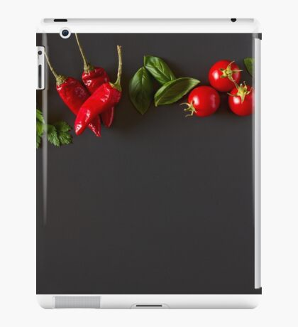 Red and green raw vegetables iPad Case/Skin