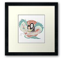 Chihiro & friends !  Framed Print