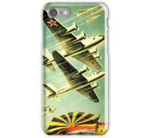 Soviet old poster. Military aircraft iPhone Case/Skin