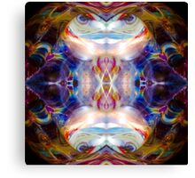 Psychedelic Girl Dance Party Abstract Canvas Print