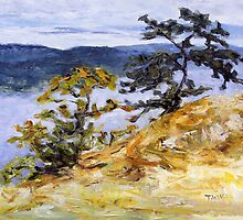 Garry Oaks on Brown Ridge  by TerrillWelch