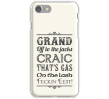Irish Slang - Black iPhone Case/Skin