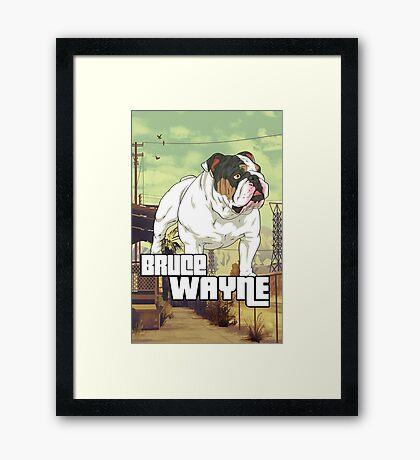Bulldoggin GTA Framed Print