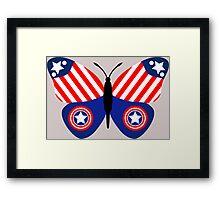 Captain America Butterfly Framed Print