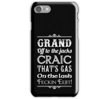 Irish Slang - White iPhone Case/Skin