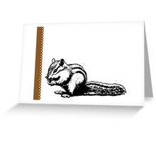 Chipmunk - Critter Love Collection 4 of 6 Greeting Card