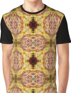 Psychedelic Flower Goddess Magenta Yellow Abstract  Graphic T-Shirt