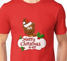 Teddy Bear Merry Christmas Unisex T-Shirt