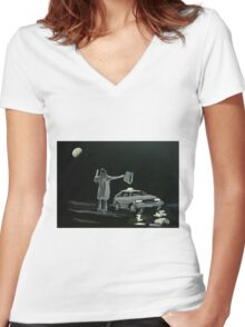 Dark Night Women's Fitted V-Neck T-Shirt