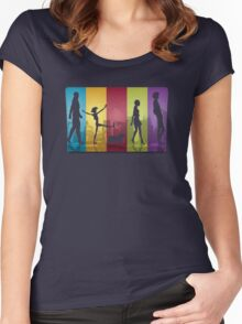 Bebop Crew ver.transparent Women's Fitted Scoop T-Shirt