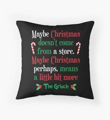 Maybe Christmas Throw Pillow