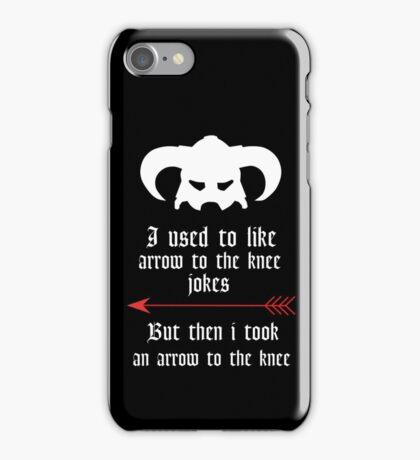 Arrow to the knee jokes iPhone Case/Skin