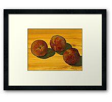 Peach Trio Framed Print