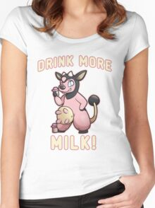 Drink More Milk! Women's Fitted Scoop T-Shirt