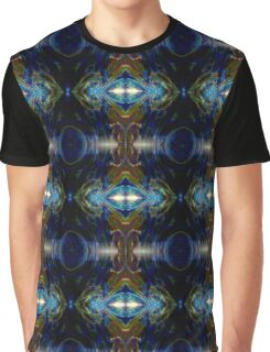 Big Blue Bang Psychedelic Abstract Graphic T-Shirt