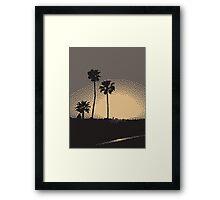 Pixel Sunset Framed Print