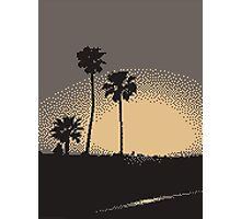 Pixel Sunset Photographic Print