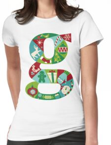 green christmas Womens Fitted T-Shirt