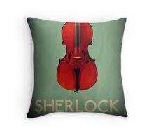 Sherlock Violin Throw Pillow