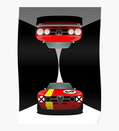 Alfa Romeo GT Veloce Road & Race Poster