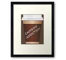 Caffeine addiction. Framed Print