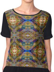 Rainbow Diamond Psychedelic Magic Abstract Chiffon Top
