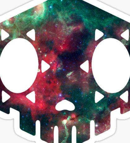 Galaxy Sombra Skull Sticker
